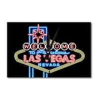 Las Vegas NV Neon Lights Welcome Sign - LP Artwork (Acrylic Wall Clock) - acrylic wall clock