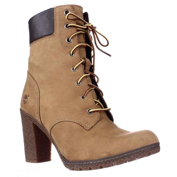Timberland Earthkeepers Glancy Lace Up Heeled Boots, Wheat