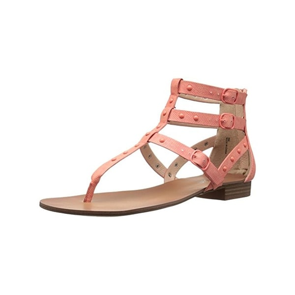 Kensie Womens Billie Gladiator Sandals Faux Leather Studded