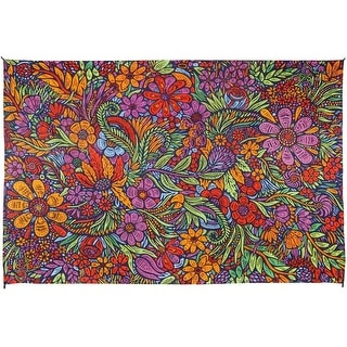 3D Lush Flower Floral Tapestry Wall Hanging Cotton Floral Art Tablecloth Rectangular