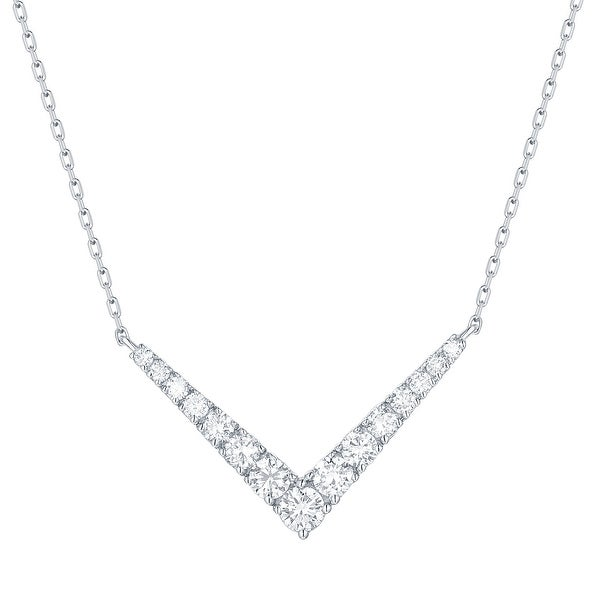 "Smiling Rocks 0.51Ct G-H/VS1 Lab Grown Diamond ""V"" Shaped Necklace"