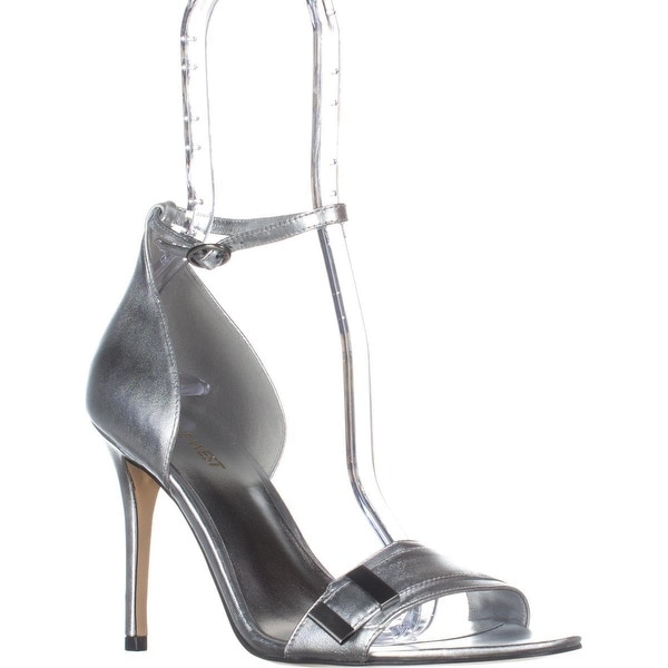 Nine West Matteo Ankle Strap Dress Sandals, Silver Metallic