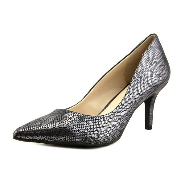 Alfani Jeules Women Pointed Toe Canvas Silver Heels