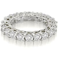 Lucida 3.30 cttw. 14K White Gold Round Cut Diamond Eternity Wedding Ring