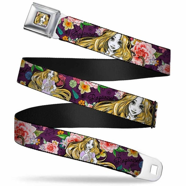 Rapunzel Sketch Full Color Rapunzel Poses Floral Collage Sketch Purple Seatbelt Belt