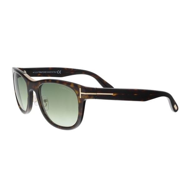 af2a66ef86b Shop Tom Ford FT0045 S 52P JACK Tortoise Square Sunglasses - 51-20 ...