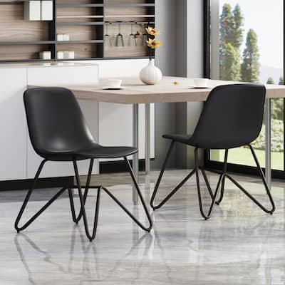 Antioch Contemporary Faux Leather Dining Chair (Set of 2) by Christopher Knight Home