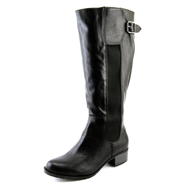 Intaglia San Francisco Wide Calf Women Round Toe Synthetic Knee High Boot