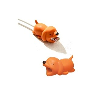 iPhone & Android Cable Protectors Animal Biters - 2pk Dog