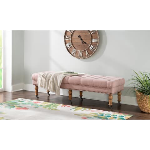 Copper Grove Pereislav 62-inch Tufted Pink Bench
