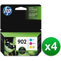 HP 902 3-Cartridges Tri-Color Original Ink Cartridges (T0A38AN)(4-Pack)