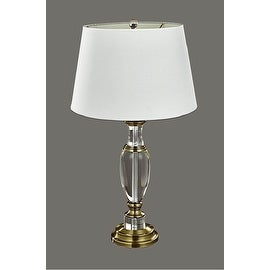"""Park Lane Lighting Item # 300B 31.25"""" Crystal with Brass Accents Table Lamp"""