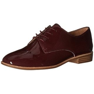 G.H. Bass & Co. Womens Ella Leather Closed Toe Oxfords