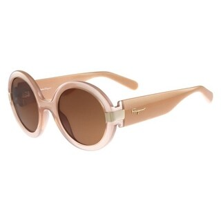 Salvatore Ferragamo Womens Round Sunglasses Oversized UV Protection - nude - o/s