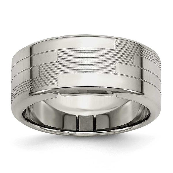 Stainless Steel Textured Ring (10 mm)