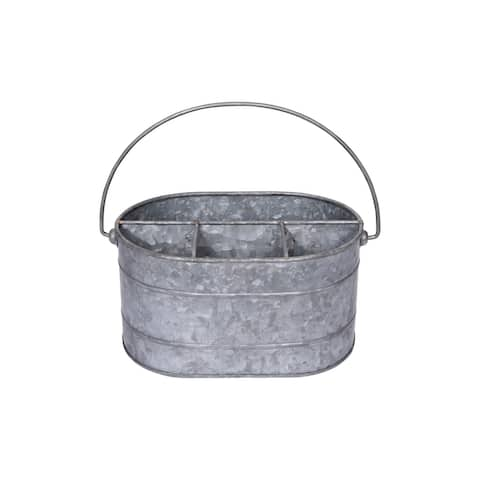 Metal Bucket with 4 Compartments and Handle