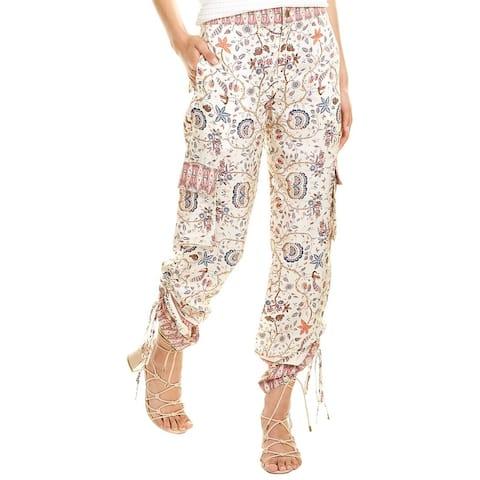 Nicole Miller Jakarta Silk Cargo Pant