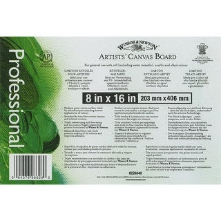 """Artists' Quality Canvas Board-8""""X16"""""""