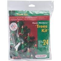 """Holiday Beaded Ornament Kit-Mini Trees 2.25"""" Makes 24"""