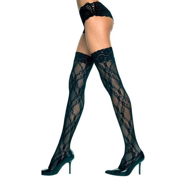 dbdd9979d0853 Shop Lace Thigh High With Lace Top, Lace Design Thigh High - One Size Fits  Most - Free Shipping On Orders Over $45 - Overstock - 18009145