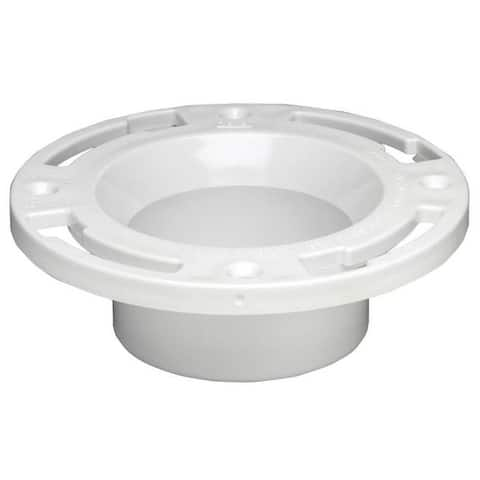 "Oatey 43502 Level-Fit Closet Flange Without Test Cap, 3""- 4"""