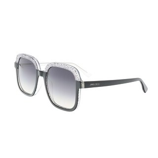Jimmy Choo Glint/S 0OTB Black Glitter Square Sunglasses - 53-21-145