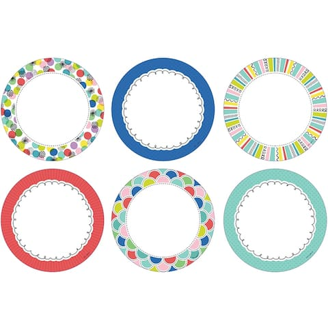 Color Pop Dots 6In Designer Cutouts - Multi