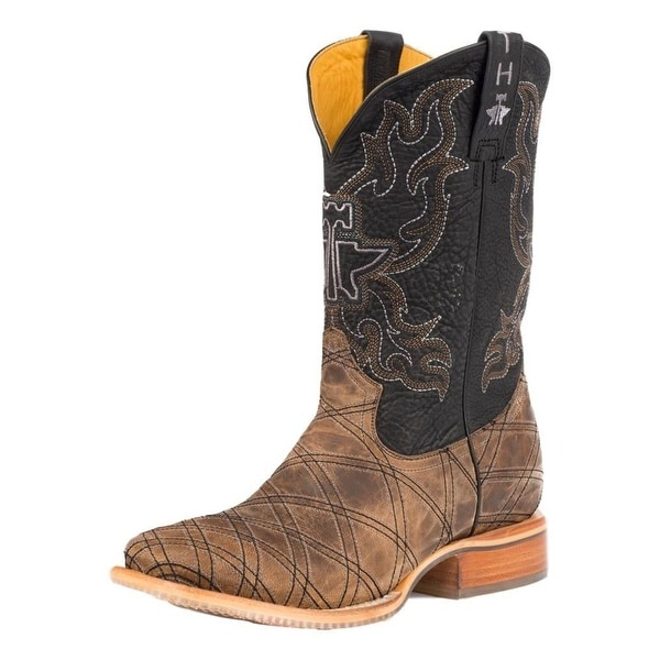 Tin Haul Western Boots Mens Pin Up Sole Brown