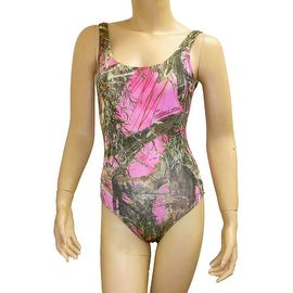 Women's Camo Bikini 1-Piece Swimsuit True Timber Beach Swimwear Real Tree