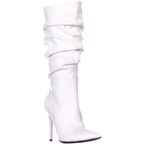 Jessica Simpson Lyndy 2 Knee High Boots, Off White