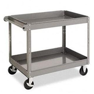 Tennsco SC2436 Two-Shelf Metal Cart 2-Shelf 24w x 36d x 32h Gray
