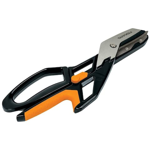 "Fiskars 710400-1001 PowerArc Easy Action Straight Tin Snip, 13"""