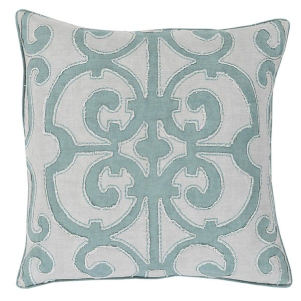 "22"" Princess Dreams In Shades of Cool Gray Decorative Throw Pillow"