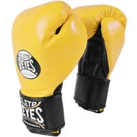 Cleto Reyes Lace Up Hook and Loop Hybrid Boxing Gloves - Medium - Yellow/Black