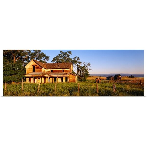 """Farmhouse on a landscape, Imbler, Union County, Oregon"" Poster Print"