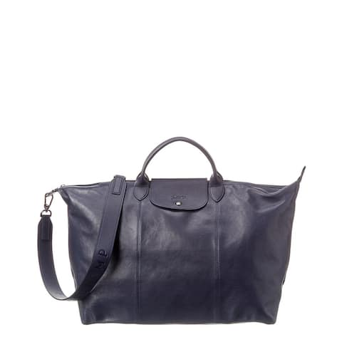 Longchamp Le Pliage Cuir Short Handle Leather Tote