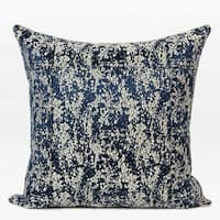 "G Home Collection Luxury Blue Abstract Pattern Frame Jacquard Pillow 22""X22"""