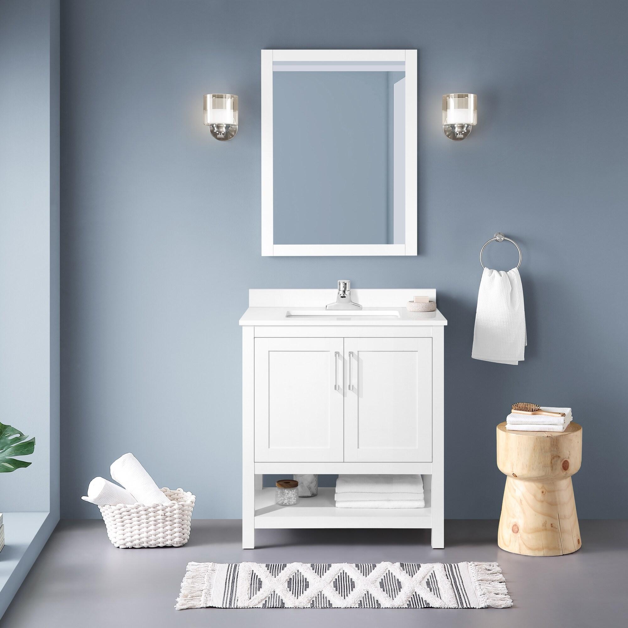 Ove Decors Vegas 30 Bathroom Vanity Combo W Top And Backslplash White Overstock 33576511