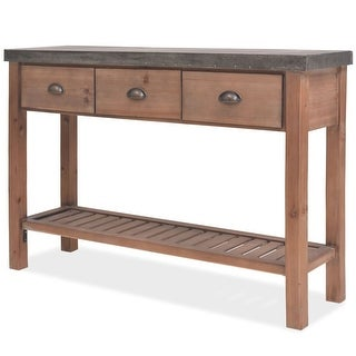 "vidaXL Console Table Solid Fir Wood 48""x13.8""x31.5"""