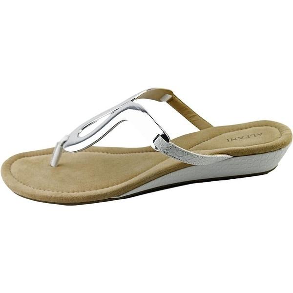 Alfani Womens Farynn Split Toe Casual Platform Sandals