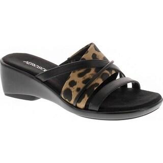 Aerosoles Women's Flagship Wedge Sandal  leopard combo