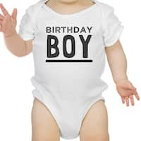 Birthday Boy White Bodysuit Cotton 1st Birthday Baby Boy Tee Shirt