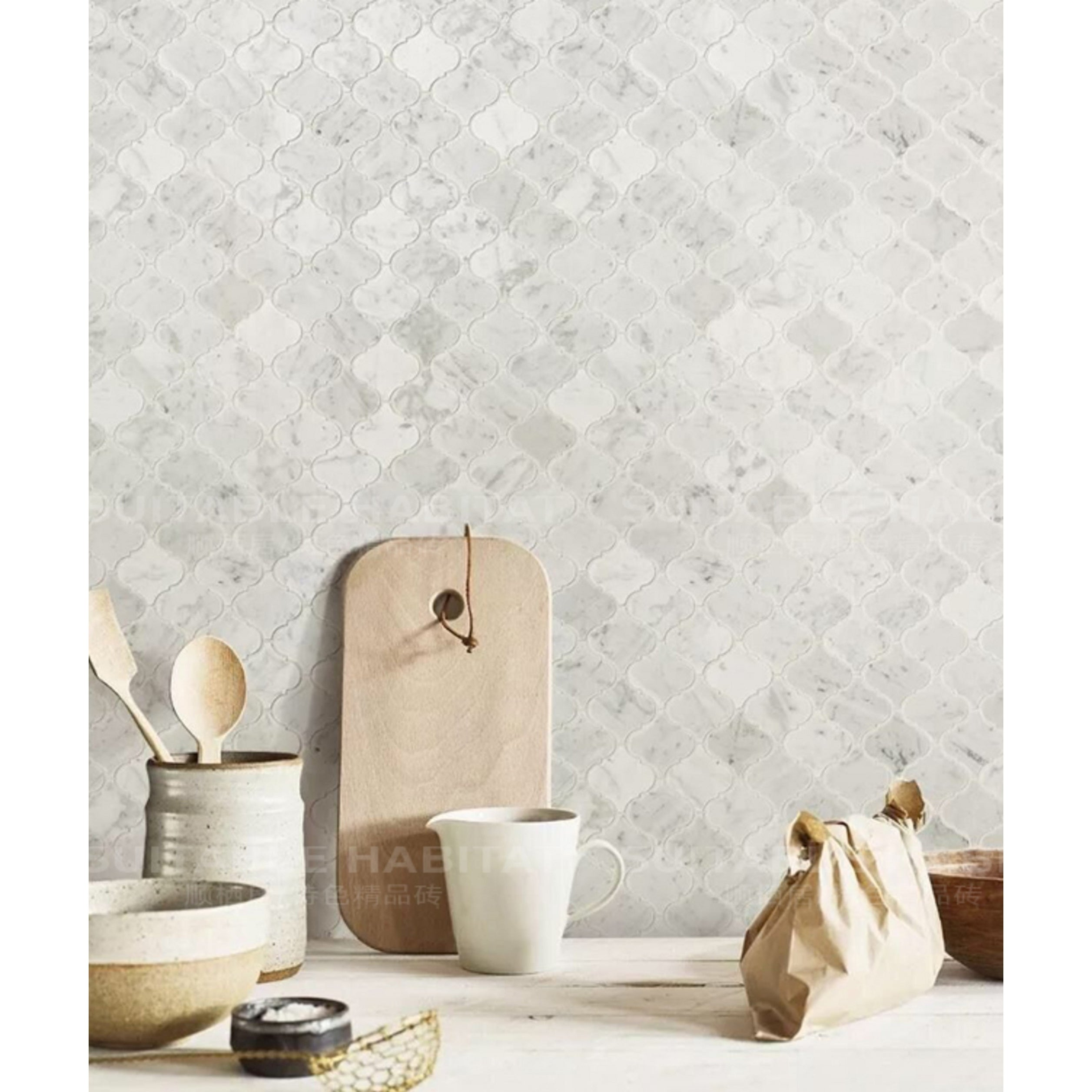 Shop For Carrara Marble Mosaic Decorative Backsplash Tile 12 X 12 X 0 38 Pc Get Free Delivery On Everything At Overstock Your Online Home Improvement Shop Get 5 In Rewards With Club O 30865913