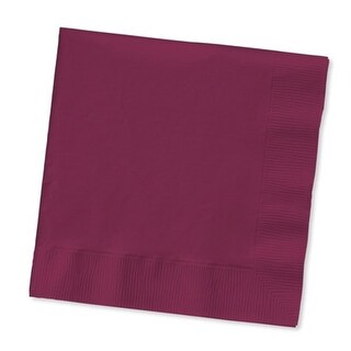 """Club Pack of 500 Burgundy Purple 3-Ply Paper Party Lunch Napkins 6.5"""""""