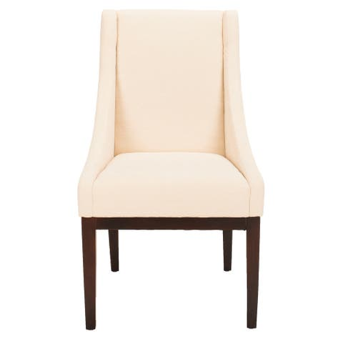 "SAFAVIEH Dining Soho Cream Linen Arm Chair - 23"" x 26.2"" x 39.2"""