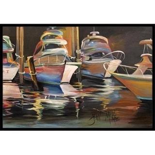 Carolines Treasures JMK1076JMAT Sea Chase Deep Sea Fishing Boats Indoor & Outdoor Mat 24 x 36 in.