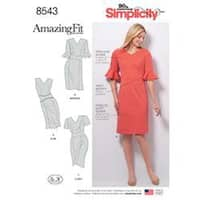 20W-28W - Simplicity Misses' And Women's Amazing Fit Dress