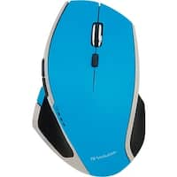 Verbatim Wireless Desktop 8-Button Deluxe LED Mouse, 99019, Blue