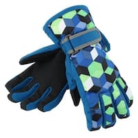 Outdoor Motorcycle Snowmobile Snowboard Ski Gloves Athletic Mittens Teal Blue L