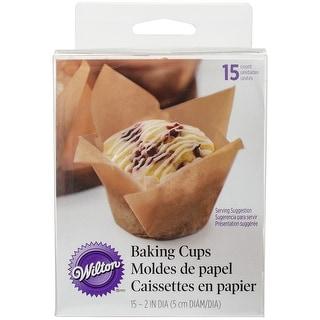 Pleated Standard Baking Cups-Kraft 15/Pkg
